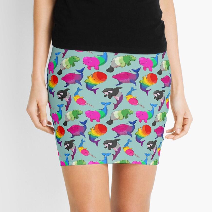 Patrón de Ballenas de Sexualidad (y Aromanato) Minifalda
