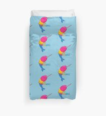 Pansexuwhale - with text Duvet Cover