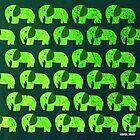 «deep green emerald elephant ecopop» de jorgelebeau
