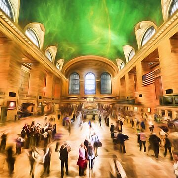 Grand Central Rush     (digital painting) by RayW