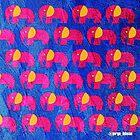 «pink purple elephant ecopop» de jorgelebeau