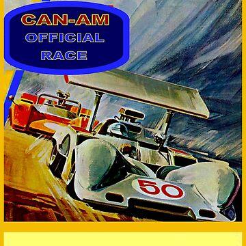 CAN-AM: Oldtimer-Werbedruck von 1969 von posterbobs