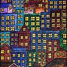 City Lights By Night by Monica Engeler