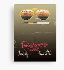 Minimalist Fear amd Loathing  Canvas Print