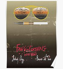 Minimalist Fear amd Loathing  Poster