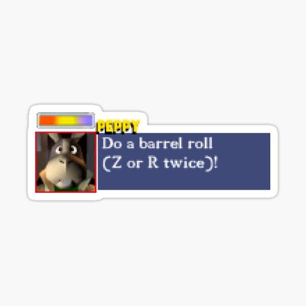 Do a barrel roll! (Bumper Sticker) Sticker