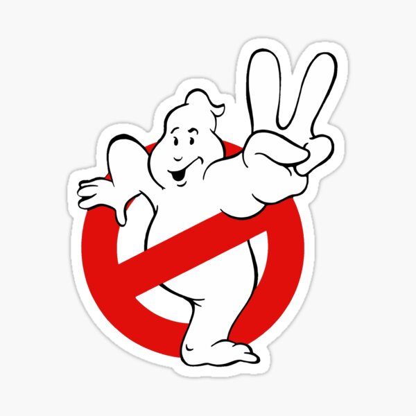 Ghostbusters 2/peace sign ghost sticker! And more  Sticker