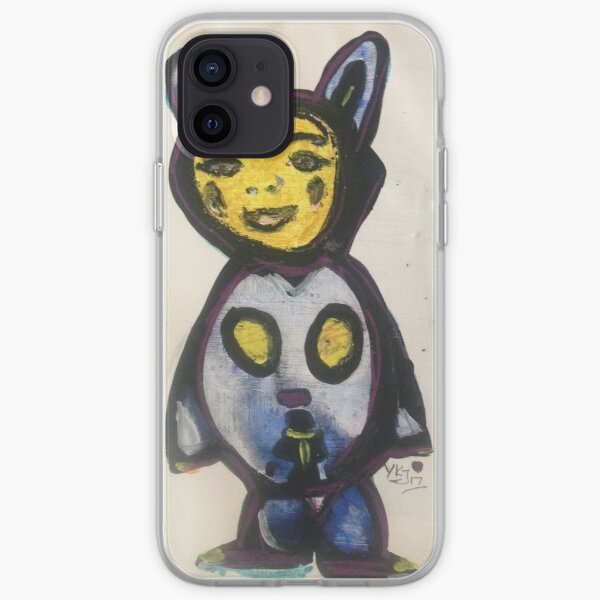 Blue Bear Boy  iPhone Soft Case