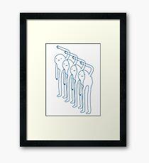 Snow Gollum Framed Print