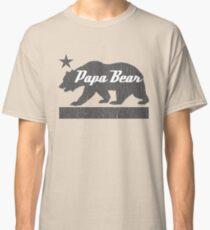 Camiseta clásica Familia del oso de California (versión del oso PAPA)