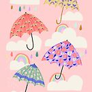 Spring Rain on Pink by latheandquill