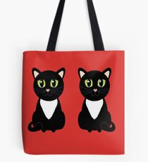 Two Black and White Cats Tote Bag
