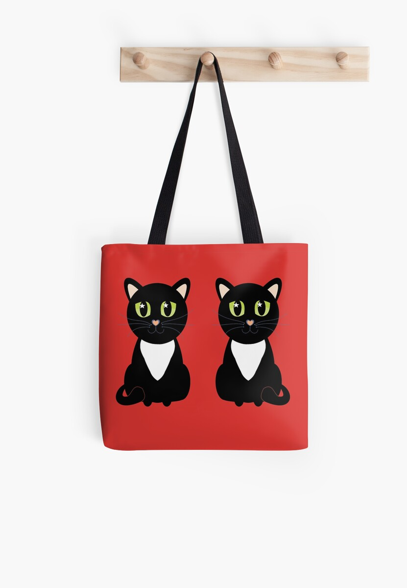 Two Black and White Cats by Jean Gregory  Evans