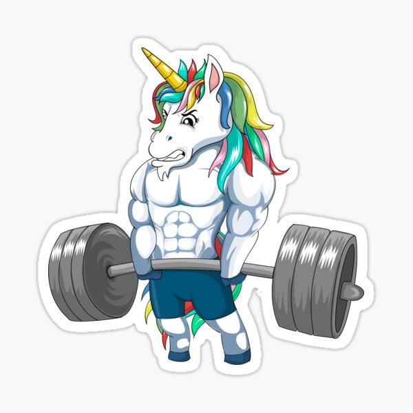 Unicorn Weightlifting Men Women Deadlift Fitness Gym Workout Canotta