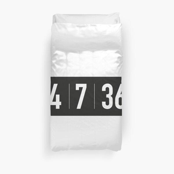 24 | 7 | 365 black Duvet Cover