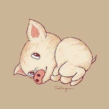 Lindo cerdo descansando de sanogawa