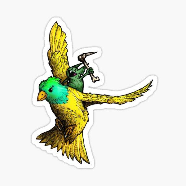 Battle Canary Bird Rider  Sticker