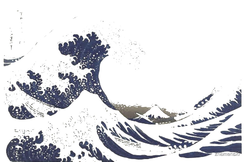 The Great #Wave off Kanagawa - Print by Hokusai - #GreatWave #Sea #Storm by znamenski