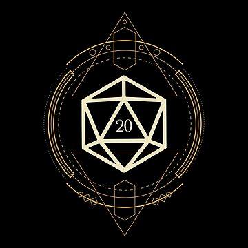 Sacred Geometry D20 dados de mesa RPG de pixeptional