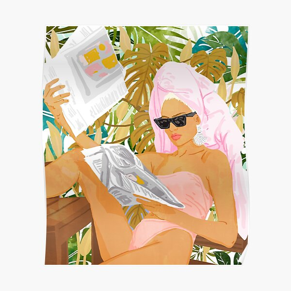 Vacay News #illustration #painting Poster