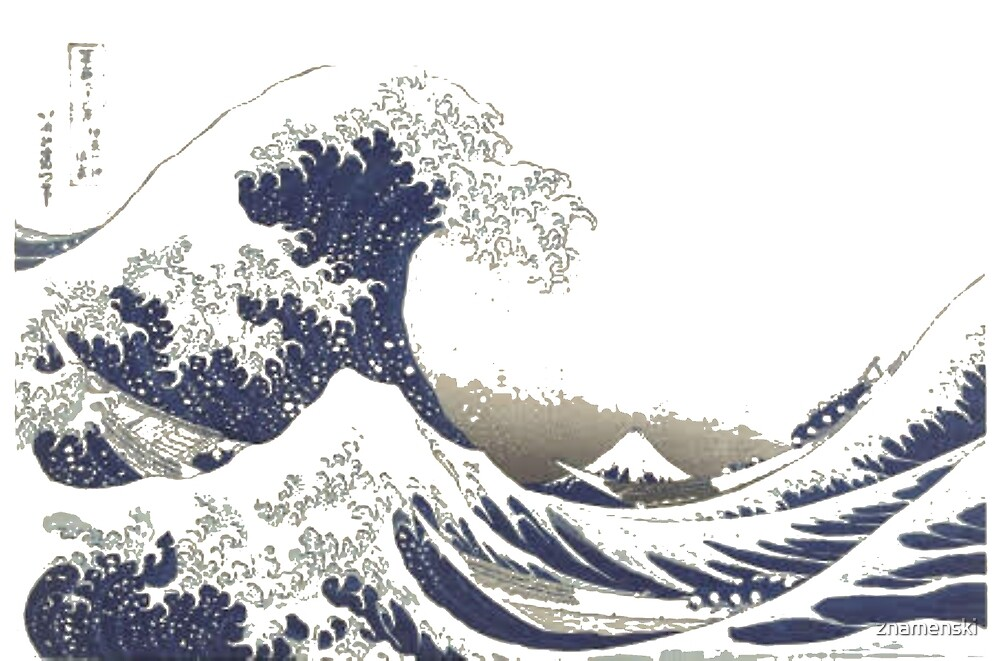 The Great #Wave off Kanagawa - Print by Hokusai - #GreatWave #Sea #Storm by znamenski