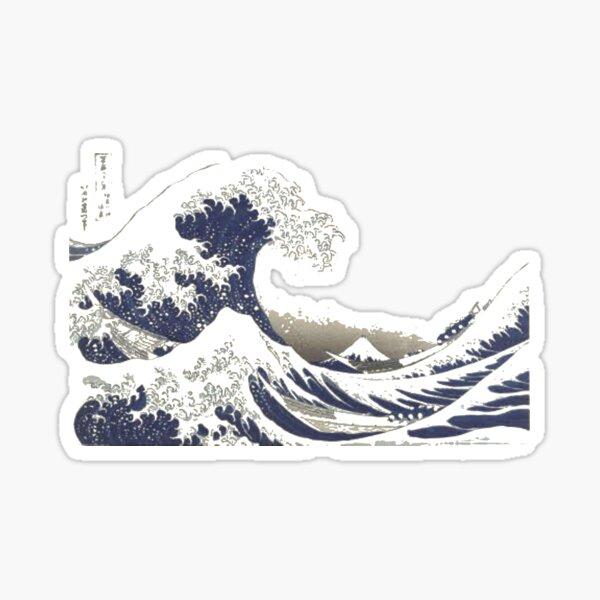 The Great #Wave off Kanagawa - Print by Hokusai - #GreatWave #Sea #Storm Sticker