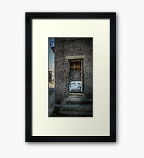 Folks Don't Come 'Round Here Much No More Framed Print