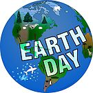 Nighttime Earth Day by SeaSerpent