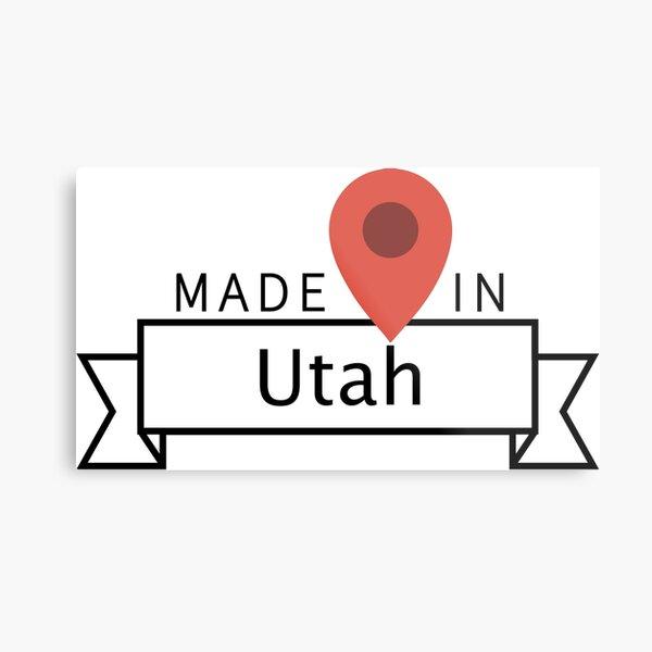 Made in Utah Metal Print