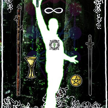The Magician - a portrait in Tarot  by psimonic