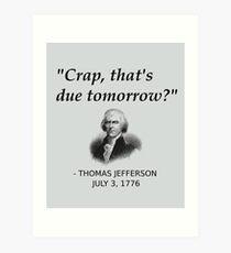 Lámina artística Divertida historia de Thomas Jefferson día de la independencia de Estados Unidos