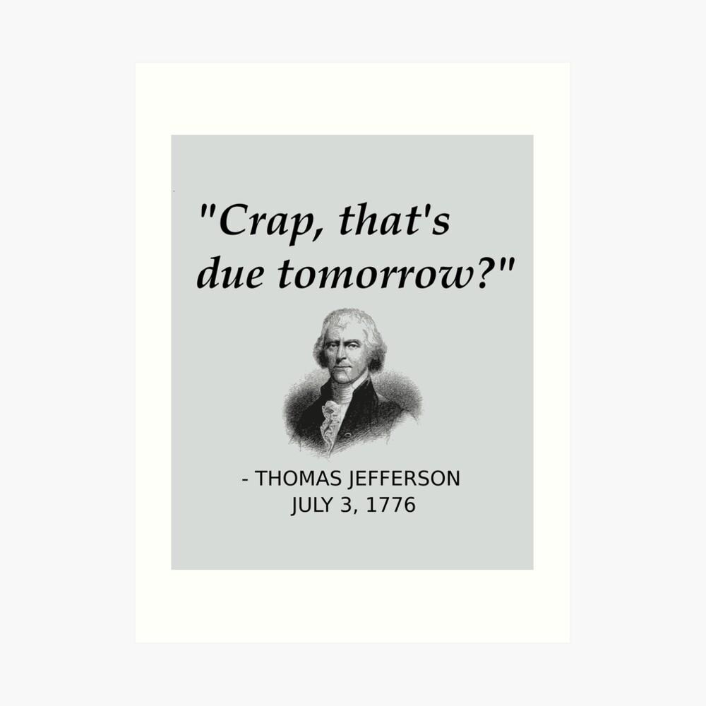 Divertida historia de Thomas Jefferson día de la independencia de Estados Unidos Lámina artística