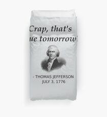 Funda nórdica Divertida historia de Thomas Jefferson día de la independencia de Estados Unidos