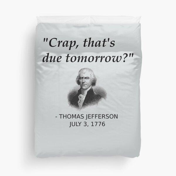 Histoire drôle de Thomas Jefferson aux États-Unis Housse de couette