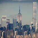 Downtown New York City  by Alberto  DeJesus