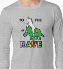 To The Rave! (Unicorn Riding Triceratops) T-Shirt