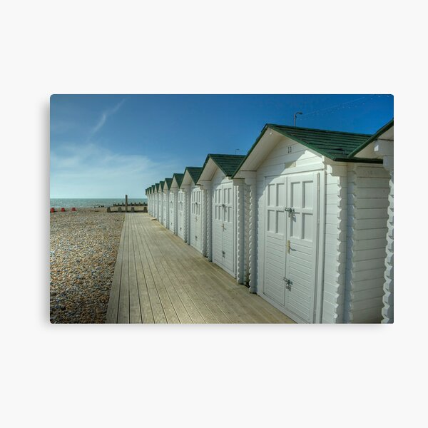 Eastbourne Beach Huts Canvas Print
