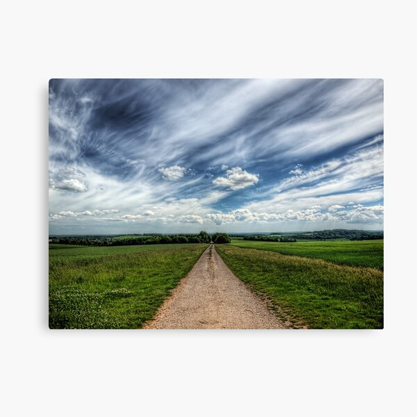 A Farm Road Just Outside Winchester Canvas Print