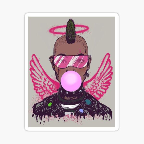 Punk in Pink (Angel) Sticker