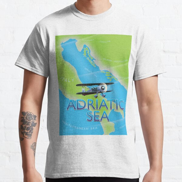 Adriatic Sea Travel map Classic T-Shirt