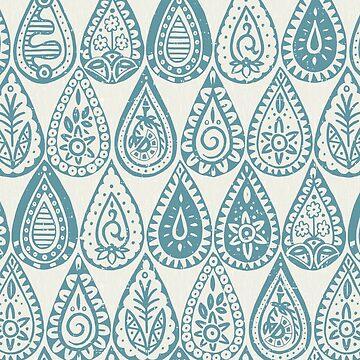 Indische Regentropfen blau von scrummy