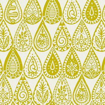 Indische Regentropfen Chartreuse von scrummy