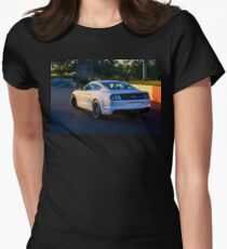 Mustang on Mt Panorama Women's Fitted T-Shirt