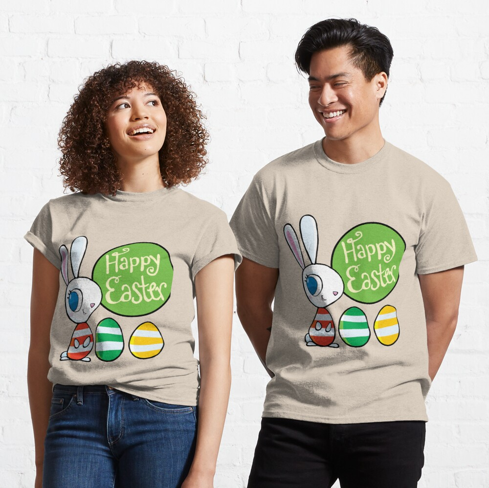 rabbit and Happy Easter Classic T-Shirt