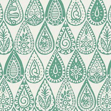 Indische Regentropfen grün von scrummy