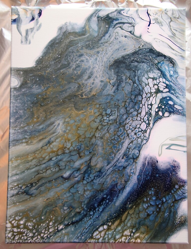 paint pour with cells by Gaylene Norton