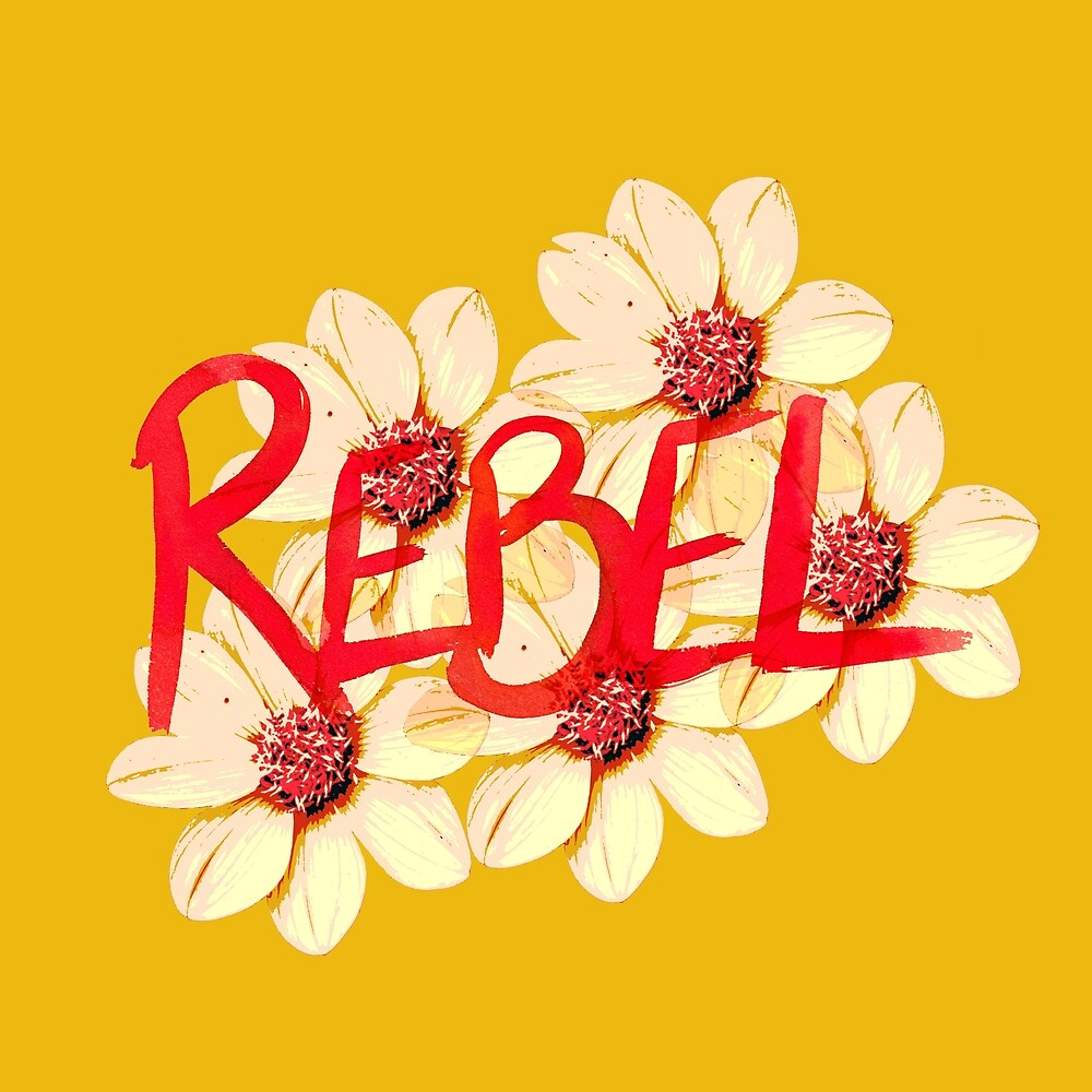 Rebel go out an smell the flowers von RanitasArt