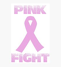 pink fight breast cancer Photographic Print
