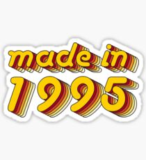 Made in 1995 (Yellow&Red) Sticker