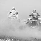 b/w quad racing by gaylene